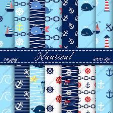 nautical wrapping paper nautical digital scrapbooking papers peper pack nautical digital