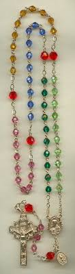 birthstone rosary rosaries multi colored birthstone rosary of