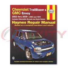 chevy trailblazer haynes repair manual base ls ss lt north face
