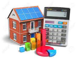 House Building Calculator Home Finance Concept Residential House Office Calculator