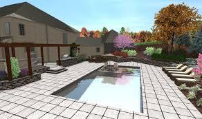 Custom Backyards 3d Pool Design Custom Deck U0026 Landscape Designs Fronheiser Pools