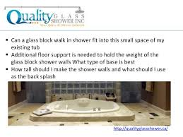 What Type Of Bathtub Is Best Commonly Raised Questions To Turn Your Bathtub Into A Glass Block Wal U2026