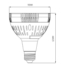 par30 e26 e27 35 watt led spotlight using osram led chip e26