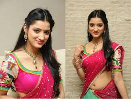 half saree designs accessories hair style blouse for half