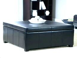 black leather square ottoman black leather coffee table midtree co