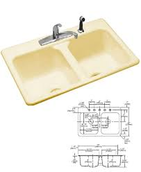 Eljer Dumount Cast Iron Double Bowl Kitchen Sink Biscuit - Eljer kitchen sinks