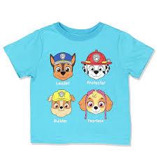 amazon com paw patrol boys u0027 group t shirt clothing
