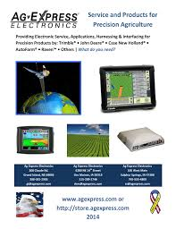 service and products for precision agriculture