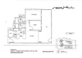 2 Bedroom Condo Floor Plans Condo 2 Bed Seahill