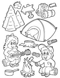 camping coloring pages fablesfromthefriends com