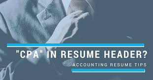 accounting resume tips should i write