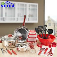 home pans 35 piece stainless steel cookware set pots pans kitchen home