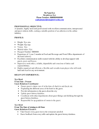 Restaurant Duties Resume Hostess Duties Resume Free Resume Example And Writing Download