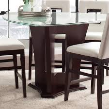 contemporary counter height table glass top pub table contemporary counter height dining with crackled