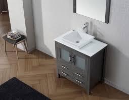 Single Bathroom Vanity Set Julianna 32 Inch Single Bathroom Vanity Cabinet Set In White