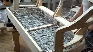 Make A Sofa by Springing A Sofa Kindel Furniture Company Youtube