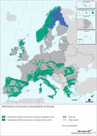 Map Note Delineation Of Mountain Municipalities In Europe Note The Map