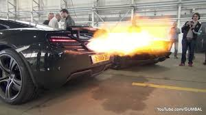 Porsche 918 Blue Flame - while the exhaust pipes exit from the back on most vehicles the