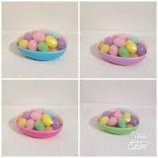 large plastic easter eggs large plastic easter egg filled container w mini eggs egg hunt