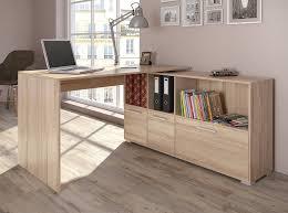 Details Zu Schreibtisch Winkelschreibtisch Computertisch Eckschreibtisch 136 X 75 Cm Weiß Eiche Sonoma Schreibtisch