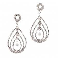 rhinestone chandelier earrings chandelier earrings bridal jewelry pink lace bridal