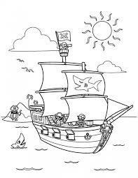 pirate ship coloring pages eliolera