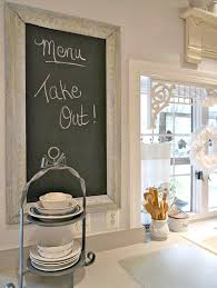 Kitchen Chalkboard Ideas by Nice Framed Chalkboard Ideas With White Wall Color For Amazing