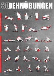 Einkaufen Zu Hause Dehnübungen Poster Din A1 Anleitung Zum Stretching Und Dehnen