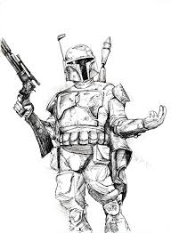 star wars coloring pages boba fett coloring