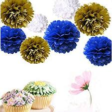 royal blue tissue paper set of 9 mixed gold royal blue white tissue paper