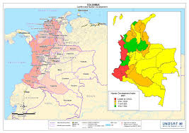 Colombian Map Conflict And Human Development Unitar