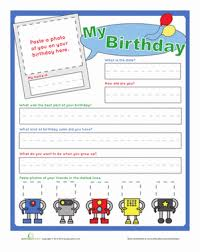 birthday interview questions worksheet education com