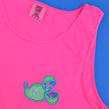 bow monogram mouse bow monogram comfort colors tank unisex fit pretty
