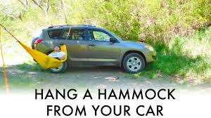 jeep hammock camping how to hang a hammock from your car suv van or truck great for