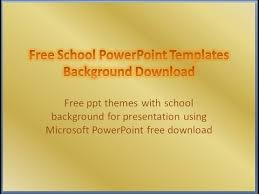 Free School Powerpoint Templates Download Background Presentation Educational Powerpoint Themes