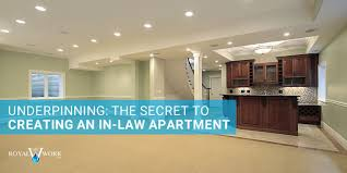 underpinning the secret to creating an in law apartment