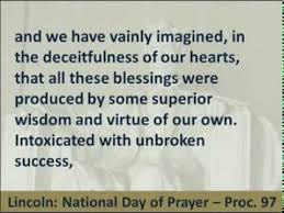 abraham lincoln national day of prayer proclamation 97 hear