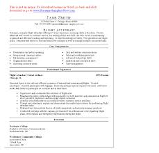 Resume Examples For First Job Resume For Airline Job Free Resume Example And Writing Download