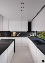 cuisine moderne et design cuisine blanc et noir 40 propositions qui donnent envie d essayer