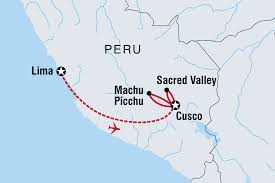 Machu Picchu Map Cycle Peru Machu Picchu U0026 The Sacred Valley Overview Cycle