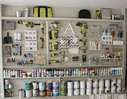 tutorial for organizing the garage with a pegboard storage wall diy garage pegboard storage wall cool pegboard storage pieces the creativity exchange