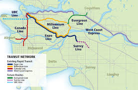 Map Of Vancouver Canada Evergreen Line Maps And Reports