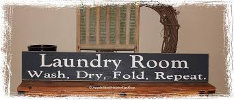 signs home decor laundry room wash fold repeat large wood sign home decor