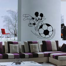 home design 3d jouer garçons cadeau anime stickers muraux mickey mouse joue au football