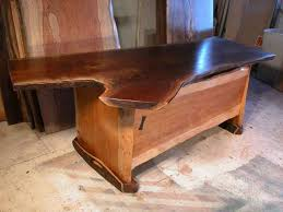 live edge desk with drawers live edge desks dumond s custom furniture