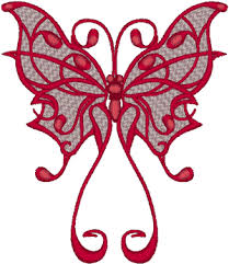 style butterfly embroidery design