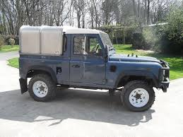 land rover defender 90 lifted land rover defender 90 300 tdi 4 x 4 pick up and canopy 2 5cc