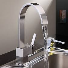 Kitchen Faucet Modern Nickel Brushed Finish Contemporary Brass Kitchen Faucet Modern