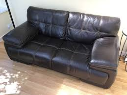 Brown Leather Sofa Free Delivery Couch Extremely Comfortable Well