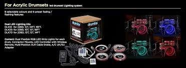 Drum Set Lights Accessories Drumlite Led Drum Kit Light Set For Acrylic Drums